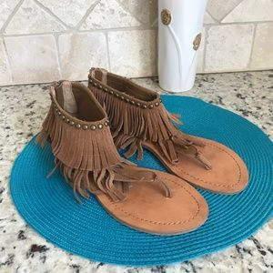 Steve Madden Fringed Ankle Sandals